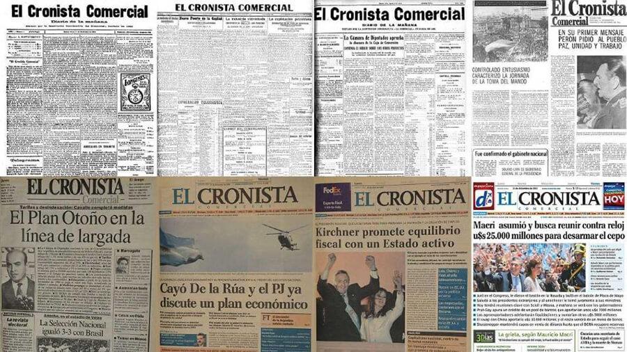 Tapas de El Cronista Comercial Diario Anticipos